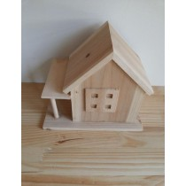 Wooden Decorative Fire Wood Bird House