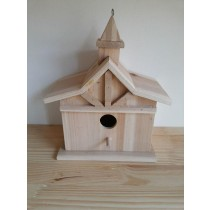 Wooden Hanging Bird House 31x24x15