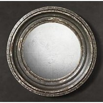 Wooden Mirror Thicker Frame Round Shape
