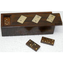 "Wooden Natural Domino, 6"" X 2.25"" x 1.5"""
