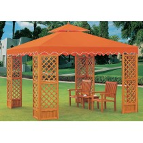 Wooden Orange Gazebo With The Tent
