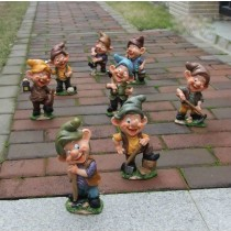 Workers Gnome Garden Sculptures