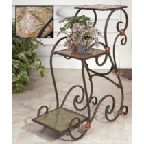 Wrought Iron Carved Stylish Plant Stand