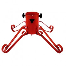Wrought Iron Red 4 Inch Christmas Tree Stand