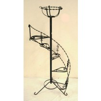 Wrought Twisted Iron Decorative Plant Stand