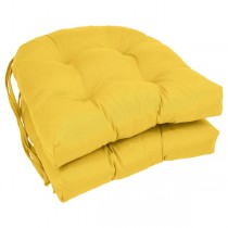 Yellow Color 16 Inch U Shaped Cushion With Ties