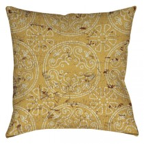 Yellow Color 20 Inch Square Cushion