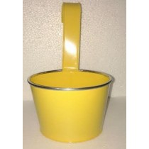 Yellow Color Round Pot With Handle