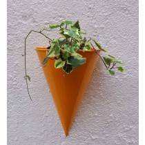 Yellow Cone Shape Wall  Planter