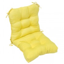 Yellow Durable Back Chair Cushion