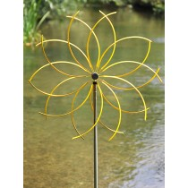 Yellow Flower Design Garden Weathervanes