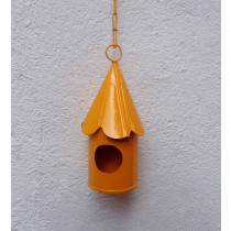 Yellow Hanging Bird House