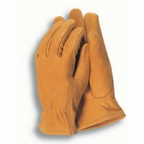 Yellow Men's Leather Gardening Gloves