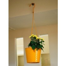 Yellow Petal Hanging Bucket Planter