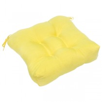 Yellow Polyester 20 Inch Chair Cushion