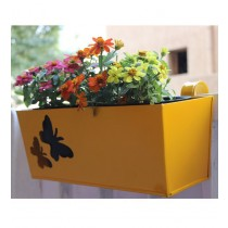 Yellow Railing 16 Inch Rectangular Planter