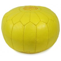 Yellow Round Floor Pouf