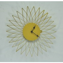 Yellow Sunflower Metal Wall Clock