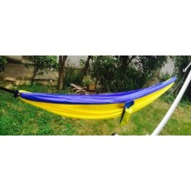 Yellow With Combine Blue Single Parachute Hammock