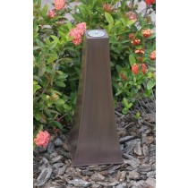 Zinc Copper Finish Garden Torch 25 Inch Height