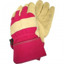 Medium Ladies Pink & Golden Garden Gloves
