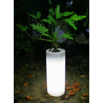 Round Shape  Warm White  LED Planter