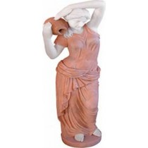 Sculpture A Woman Carrying Jar on her shoulder