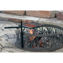Durable Black Metal Cooking Grill Fire Pit