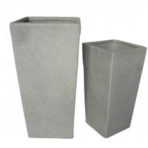 Durable Fiberglass Planters Set of 2 Pcs