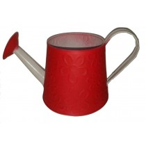 Embossed Red Color Watering Can