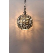 Etched hanging  Ball Lamps
