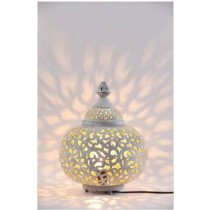 Etched Metal Table Lamp