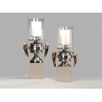 European style glass ox horn candlestick (B)