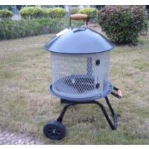 Fire Pit for Garden Patio, Size: 64.5 x 54 x 92cm