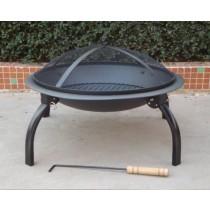 Outdoor fire pit, 80 x 38 x 80 cm