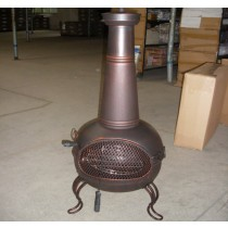 Fire pit for outdoor patio size 49 x 42 x 94 cm, D43cm