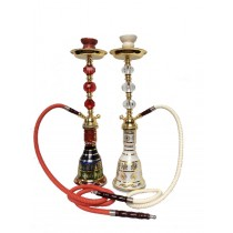 White And Multicolored Decorative Egyptian Style Medium Hookah(1.2 m normal hose)
