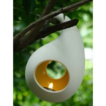 Hanging Flash Fruit Candle Holder-Round-Large-Red/Orange