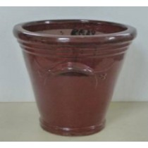 Decorative Dark Brown 10'' Ceramic Planter