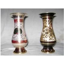 """Flower Vase Glass Disco Work 6""""(Right)"""