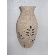 Matte Cream Pot Shape Designer Flower vase