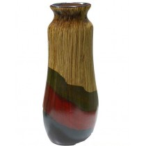 Light Wood Texture Finish With Decorative Shape Flower Vase