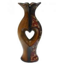 Wood Brown color And Red Brown Decorative Flower Vase