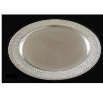 Gadroon Etched Edge Round Tray