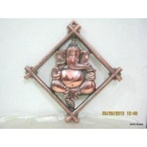 Ganesh in Square Frame 10""
