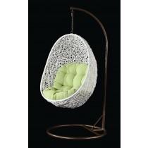 garden swing white rattan