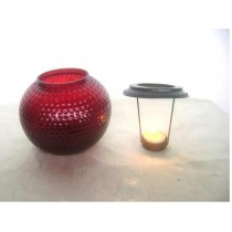Glass lamp Gola with T-lite candle