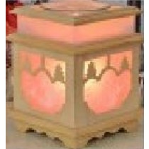 Glass Wooden Aroma Lamp