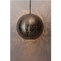Globe Hanging Lamp with Etch