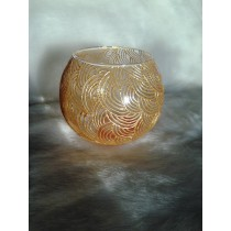 Glass Ball Shape Candle Holder